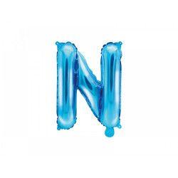 Balon folie metalizata litera N albastru 35cm