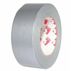 Banda adeziva cu insertie textila 50mm x 10m argintiu SMA