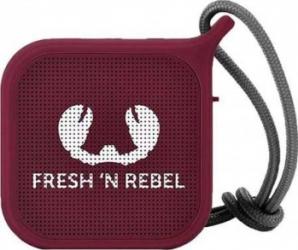 Boxa portabila FRESH 'N REBEL Rockbox Pebble Bluetooth Waterproof Ruby red
