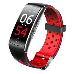Bratara fitness TechONE Q8S color heart rate tensiune management somn OLED 0.96 inch IP68 submersibilia Rosu/Negru Bratari Fitness
