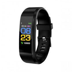 Bratara fitness Aipker ID115 plus-tensiune ritm cardiac-black Bratari Fitness