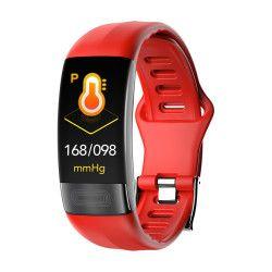 Bratara fitness Aipker P11- ritm cardiac PPG+ECG+HRV tensiunea arteriala rosu Bratari Fitness