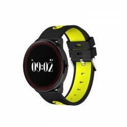 Bratara Smart Bluetooth monitorizare cardiaca calorii pedometru notificari galben SoVogue Bratari Fitness