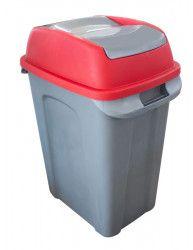 Cos RAKI ICIKALA PROFI pentru gunoi cu capac batant 50L N-5 culoare bej