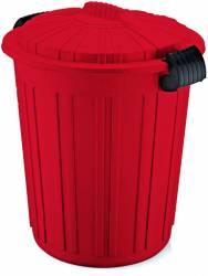 Cos de gunoi N-5 73lt ICIKALA 45x52cm rosu