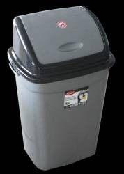 Cos ICIKALA PROFI pentru gunoi cu capac batant 50L N-5 culoare gri