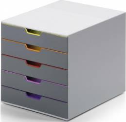 Cutie organizare-arhivare Durable Varicolor cu 5 sertare Articole si accesorii birou