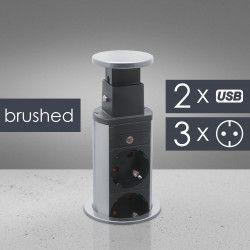 Distribuitor 3 prize camuflat A n mobilier USB- metalizat-satinat