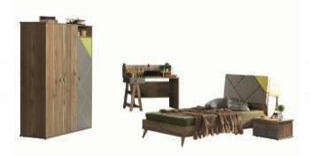 Dormitor copii LOFT maro Seturi mobila dormitor