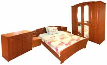 Dormitor Roma cu pat 160x200 cm MDF Cedru