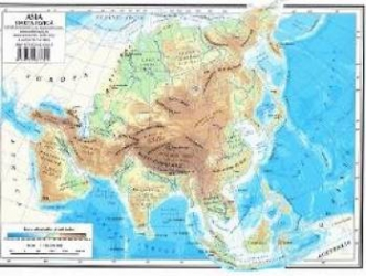 Harta Asia fizica + Asia politica Harti