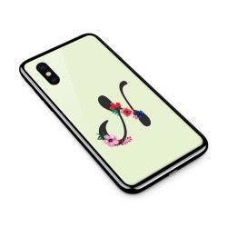 Husa din sticla securizata pentru Apple iPhone XS Litera N