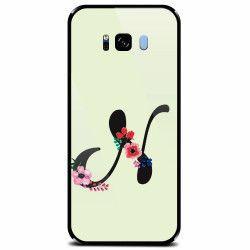 Husa din sticla securizata pentru Samsung Galaxy S8 Litera N