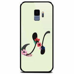 Husa din sticla securizata pentru Samsung Galaxy S9 Litera N