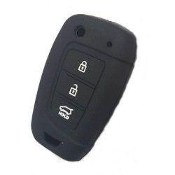 Husa silicon SIL 107 Hyundai 3 butoane negru