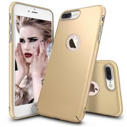 Husa telefon Iphone 8 ofera protectie Ultrasubtire Silk Gold