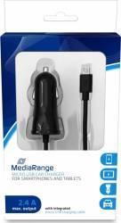 Incarcator Auto MediaRange cablu microUSB 2.4A 1m N