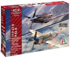 Kit de construit set 2 avioane P-47 N si P-51 D 1 72
