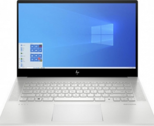 Laptop HP ENVY 15-ep0012nq Intel Core (10th Gen) i7-10750H 512GB SSD 16GB GTX1660Ti 6 GB Max-Q FullHD Win10 T. il. FPR Natural Silver Laptop laptopuri