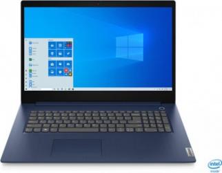 Laptop Lenovo IdeaPad 3 17IIL05 Intel Core (10th Gen) i3-1005G1 256GB SSD 8GB HD+ Win10 Abyss Blue