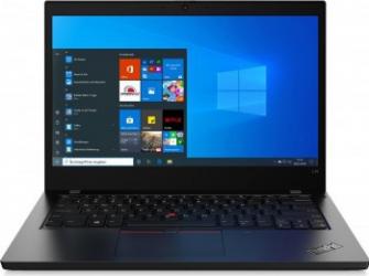 Laptop Lenovo ThinkPad L14 Intel Core (10th Gen) i7-10510U 512GB SSD 16GB FullHD Win10 Pro Tast. ilum. FPR Black