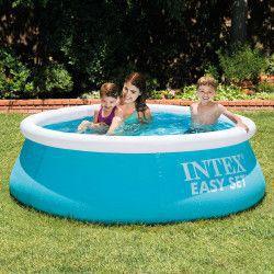 Mini-piscina gonflabila alb cu albastru pentru copii 183x51 cm Piscine