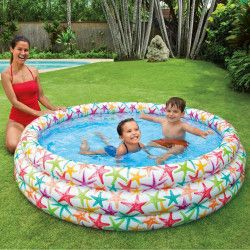 Mini-piscina gonflabila cu stele de mare pentru copii 168x38 cm Piscine