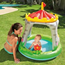 Mini-piscina gonflabila in forma de castel copii 122x122 cm Piscine