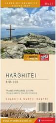 Muntii Harghitei. Harta de drumetie - Muntii nostri Harti