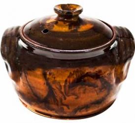 Oala din lut ceramica sarmale 800ml