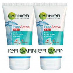 Pachet Promo Garnier Plus Gel de curatare Pure Active 3 n 1 2X 150 ml