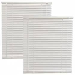 Pachet 2 bucati - Jaluzele din plastic albe jaluzea PVC orizontala pentru geam 45x120cm