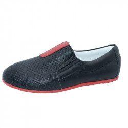 Pantofi ortopedici din piele pentru baieti SMALL FOOT SMF2-N Negru 35