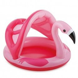 Piscina gonflabila cu acoperis Flamingo roz 114 x 103 x 72 cm Intex Piscine