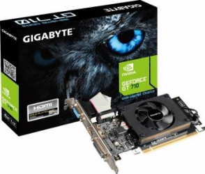 Placa video GIGABYTE GeForce GT 710 2GB DDR3 64Bit