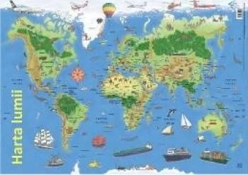 Plansa Harta lumii Harti