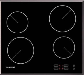 Plita incorporabila Samsung C61R2AAST Vitroceramica Touch LED Child Lock Rama inox Sticla neagra