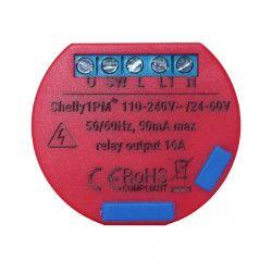 Releu cu monitorizare consum pentru automatizari Smart Home Shelly Shelly1 PM Wi-Fi 2.4 GHz b/g/n