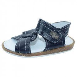 Sandale ortopedice din piele pentru baieti SMALL FOOT SMF22-N Negru 23