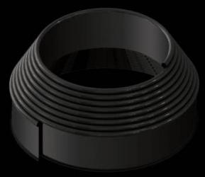 Separator gazon Country Line negru L9m H10 cm 82952-N