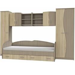 Set Dormitor Tineret CindyII 315x51x200cm Sonoma