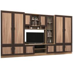 Set Living ADELINA 350x51x200cm Frasin+Wenge Seturi mobila living