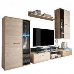Set mobila Living Ales Stejar Sonoma 236 cm lungime