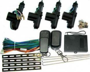 Sistem inchidere centralizata Kemot URZ0221 1 x actuator principal 3 x actuatoare simple Negru Sistem electric