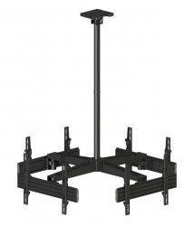 Suport de tavan pentru 4 Televizoare Multibrackets MBC4U cod 3538 max.30kg/TV diagonale 40-65 Negru