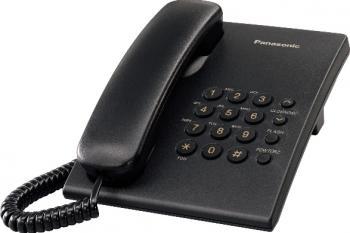 Telefon analogic Panasonic KX-TS500FXB Negru Telefoane