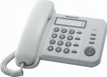 Telefon analogic Panasonic KX-TS520FXW Alb Telefoane