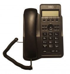 Telefon Cu Fir De Birou Afisaj LCD Caller ID Ceas Functie Hold Negru Telefoane