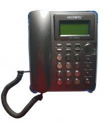 Telefon Cu Fir De Birou Afisaj LCD Ceas Functie Hold Gri Telefoane