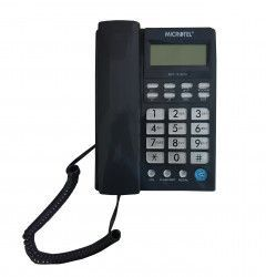 Telefon Cu Fir Microtel 1510 De Birou Functie Mute Pause Redial Flash Gri Telefoane